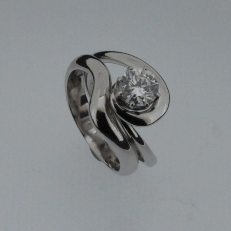 Diamond eng ring and wedding pair, Diamond engagement ring and wedding ring